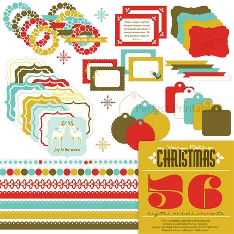 printable christmas embellishments 89 best images about scrapbooking on pinterest scrapbook