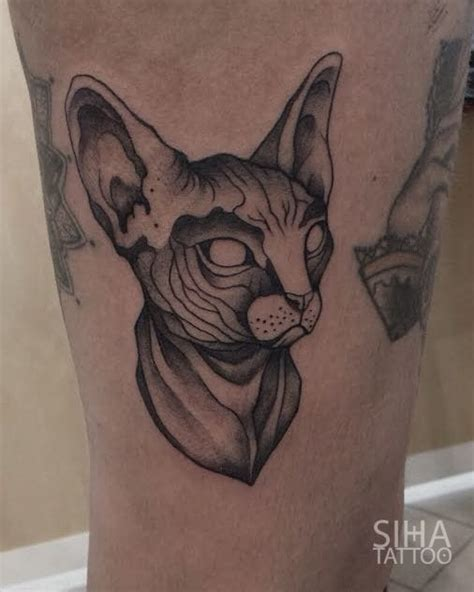 hairless cat with tattoos 30 oddly charming sphynx cat tattoos tattoodo