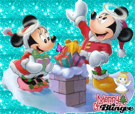 minnie  mickey christmas picture  blingeecom