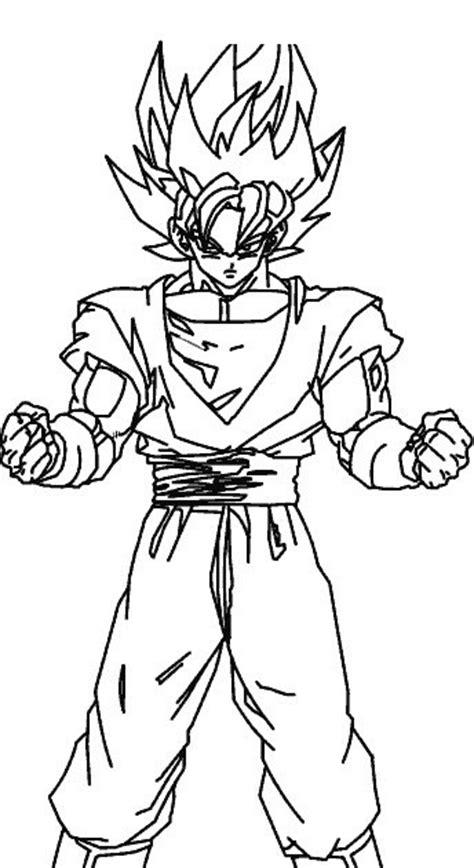 Goku como Super Sayayin para colorear - Dibujo Views