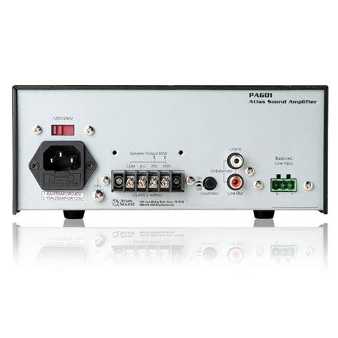 Power Lifier 60 Watt 2 input 60 watt single channel power lifier with global power supply atlasied