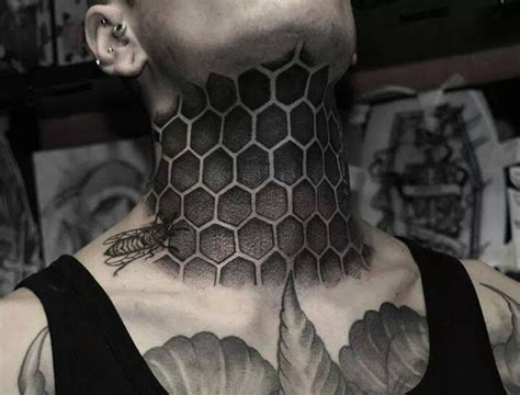full neck tattoo designs honeycomb tattoos designs ideas and meaning tattoos for you