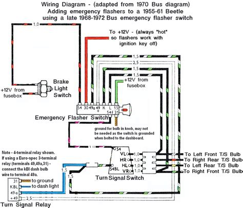 thesamba view topic 1969 wiring blinker question
