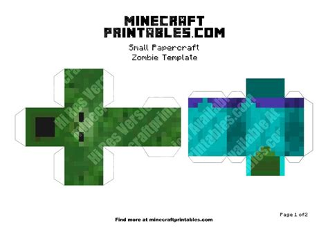 Minecraft Papercraft Pdf - printable minecraft papercraft template