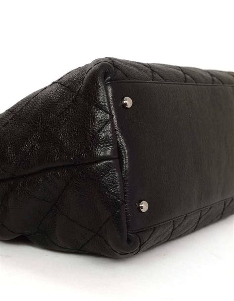 9170 Bag Black chanel black glazed quilted on the road tote bag shw for sale at 1stdibs