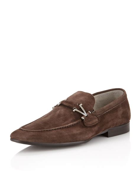 suede buckle loafers vince camuto suede buckle loafer washed brown in