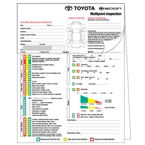 Toyota Major Service Checklist Recommended Repairs Are Easy To Understand With Factory