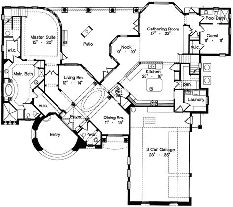 floor plans with secret rooms world design 4264mj 1st floor master suite bonus room cad available corner lot den