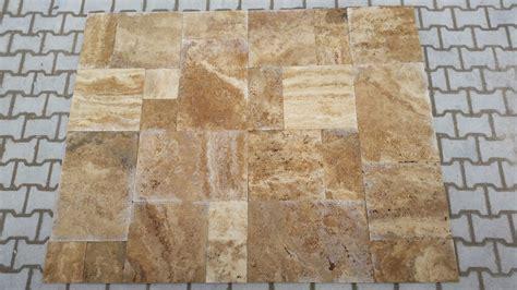 sahara sunset fp brushed chiseled travertine tiles