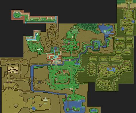 legend of zelda map with items 16 bit items tagged 16 bit