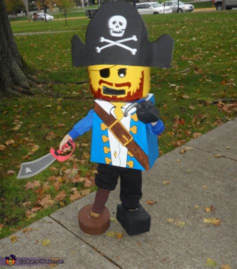 homemade lego mini figure pirate costume diy costumes