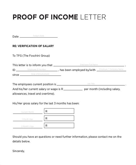 Proof Of Income Letter For Apartment Rental Sle Proof Of Employment Letter 10 Sle Documents In Pdf Doc
