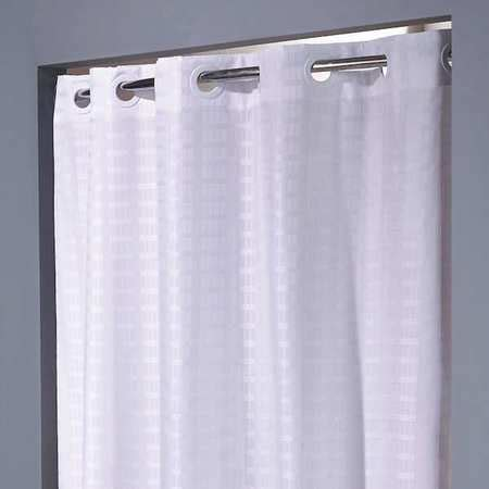 74 shower curtain hookless shower curtain white 74 in l 42 in w