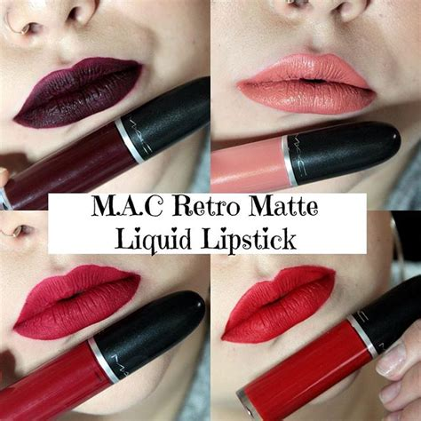 Mac Retro Matte Liquid Lip Color review kem mac retro matte liquid lip color lipstick vn