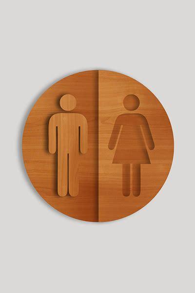 male female bathroom signs male female bathroom door sign etchworks