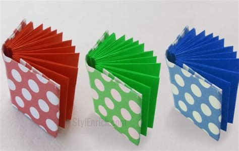 How To Make Origami With Notebook Paper - diy project idea how to make origami mini notebook by