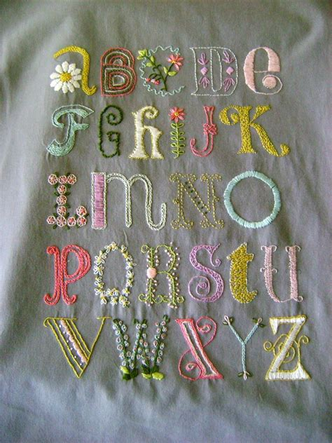 Lurçat Tapisserie by Daisychain Abcs Crewelwork Sler Pattern Embroidery