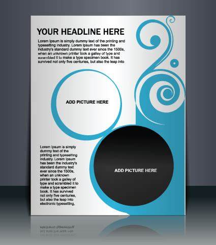 vector template presentation of flyer design 01 vector