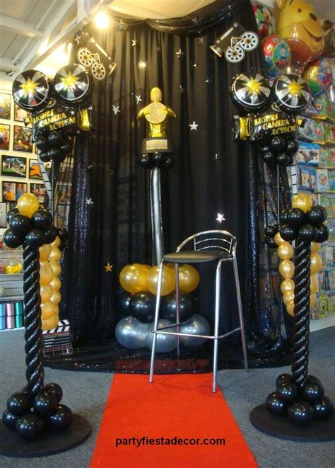 lights camera action let party fiesta balloon decor add