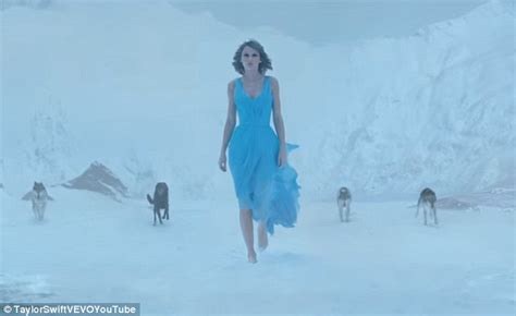 film blue woods taylor swift blue prom dress video film clip out of the