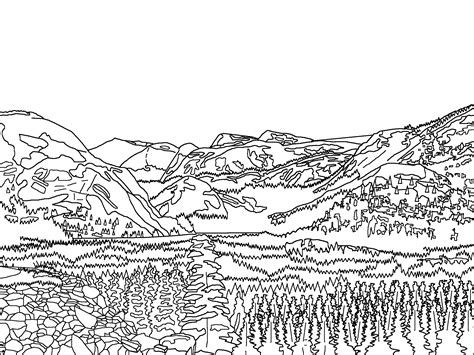 mountain ranges colouring pages mountain coloring page