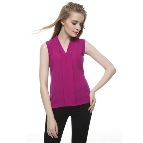 Branded Cato Vneck Blouse plus size brief v neck chiffon blouses 6 colors sleeveless shirts blusas femininas