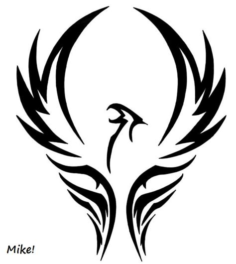 fenix lineart tribal by michaelmejia on deviantart