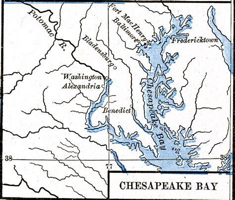 maryland map coordinates chesapeake bay