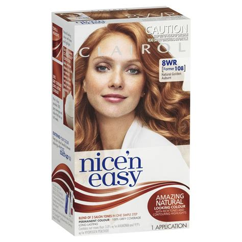 buy clairol nice n easy non permanent hair colour 8 buy clairol nice easy 108 natural gold auburn online at
