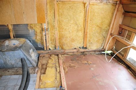 before after replacing rotten framing in a vintage