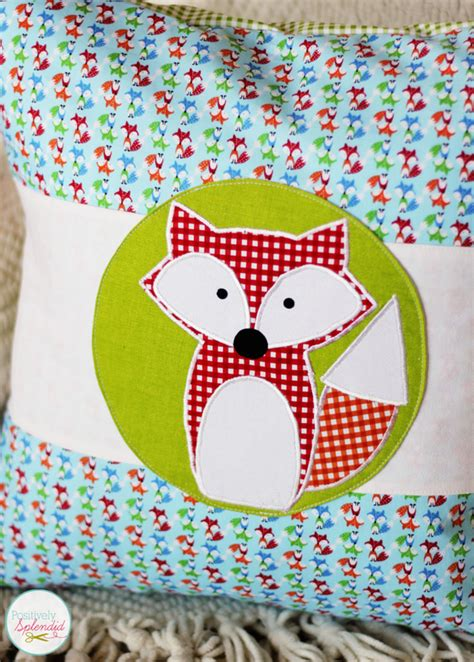 free applique fox applique design with free downloadable templates