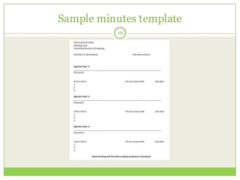effective meeting minutes template filing documentation and effective meetings
