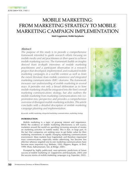 mobile marketing pdf pdf mobile marketing from marketing strategy to mobile