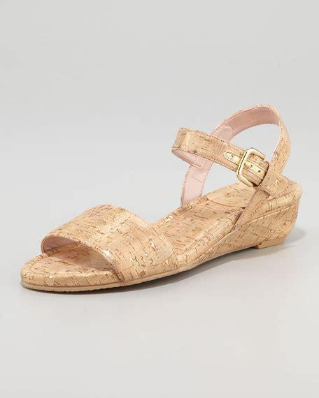 stuart rubber st stuart weitzman st barth cork micro wedge sandal