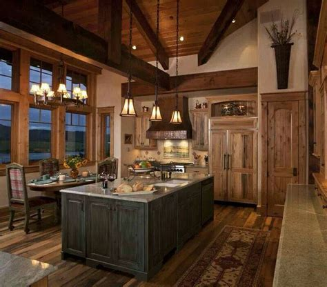 kitchen cabin lovely cabin kitchen kitchen ideas pinterest
