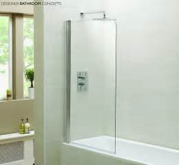 Baths With Shower Screens Designer Single Glass Bath Shower Screens Dbc Idensbs