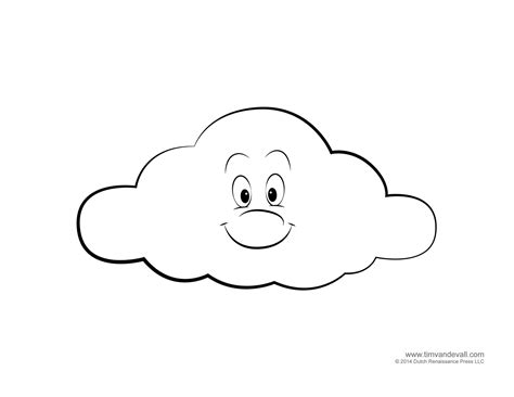 free coloring pages of cloud stencil