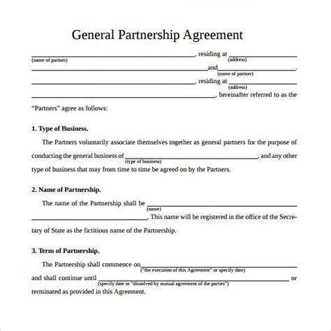 Business Agreement Letter Doc business partner agreement partnership agreement template