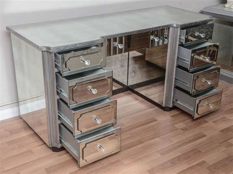 vanity desk with mirror superb mirrored dressing table or vanity with nine drawers