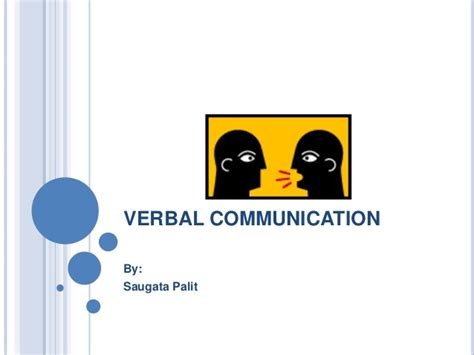 Business Communication For Mba Students Ppt by Verbal Communication
