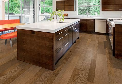 coordinating cabinets countertops and flooring engineered wood flooring ideas
