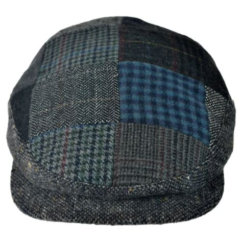 Patchwork Hats - city sport caps patchwork donegal tweed wool cap flat