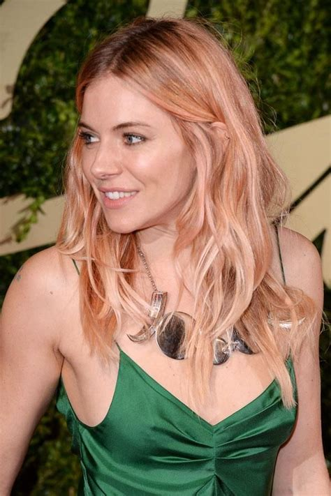 which hair color from sallys rose gold sienna miller pink rose gold hair dusty pink hair