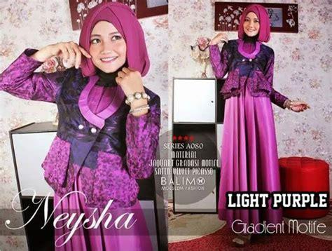 Arina Syar I Purple neysha gradient light purple baju muslim gamis modern