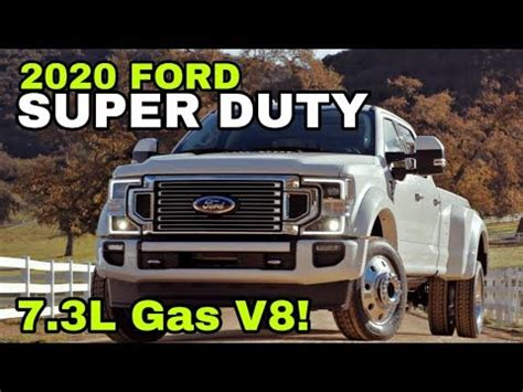 ford super duty reveal    gas engine youtube