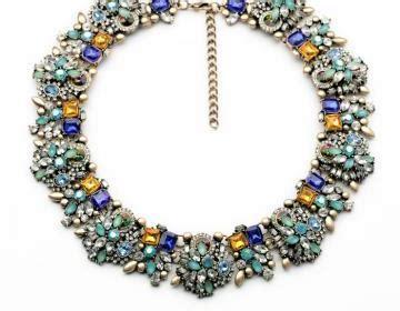 Backpack Australis 5218 vintage blue rhinestone statement choer bib necklace