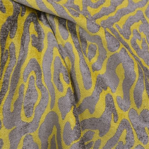 animal print upholstery fabric catwalk lemon animal print chenille fabric traditional