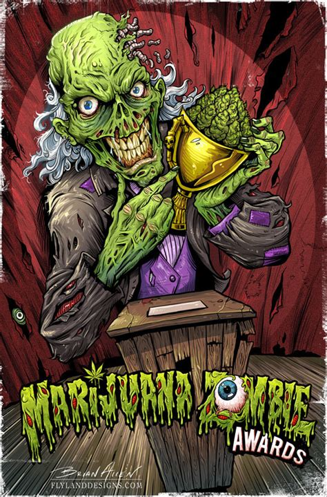 design art zombie marijuana zombie posters on behance