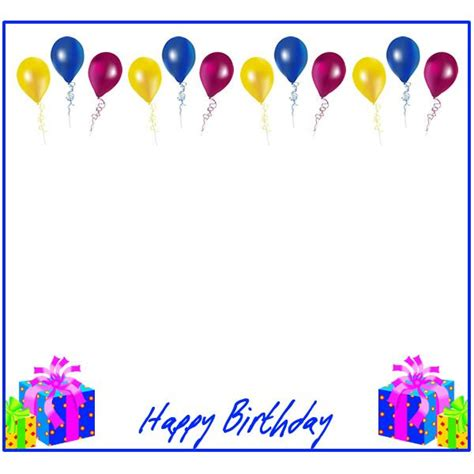 birthday card template for inkscape free birthday borders for invitations and other birthday