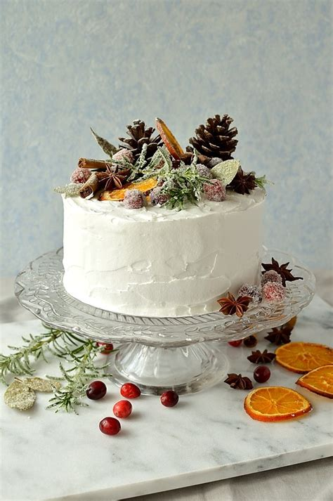 Cherry Decorations For Home gingered christmas fruitcake with rustic decorations